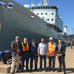 HMCS Preserver and CFAV Quest Arrive at Marine Recycling Corporation Sydney